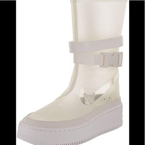 Nike Air Force 1 Sage Lux Phantom Clear Boots Sz9
